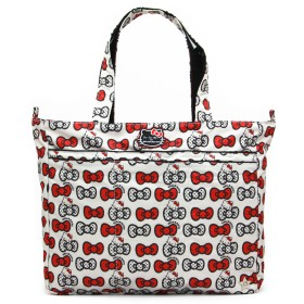 ju-ju-be Hello KittyコレクションSuper Be Zippered Tote Diaper Bag One Size レッド 14FF02HKHPK