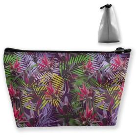 熱帯植物 収納ポーチ 化粧ポーチ トラベルポーチ 小物入れ 小財布 防水 大容量 旅行 おしゃれ