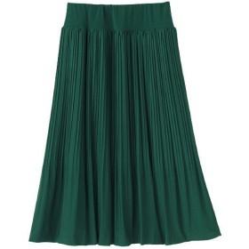 50%OFF【レディース】 ジャージプリーツスカート ■カラー:ディープグリーン ■サイズ:3L(総丈60),S(総丈70)