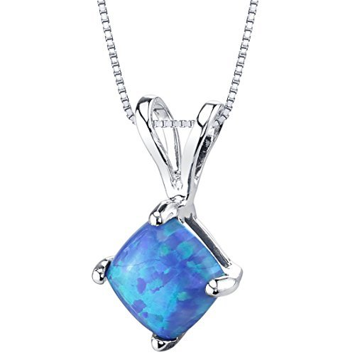Silverly Womens .925 Sterling Silver Abalone Shell Geometric Contemporary Pendant Necklace 18