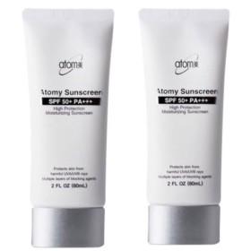 アトミ(Atomy)サンクリームホワイト(SPF50+/PA+++)60ml x 2本セット、ハイプロテクション、Atomy Sun Cream White(SPF50+/PA+++)60ml x 2pcs Set、High Protection[並行輸入品]