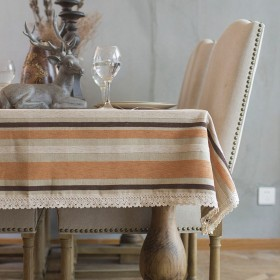 テーブルクロス 北欧風 ストライプ 無地 綿麻 布 シンプル 食卓カバー 厚手 おしゃれ 滑り止め 長方形 正方形 ティーテーブル 台所 コーヒーテーブル ダイニング インテリア キッチン用品 70  70cm