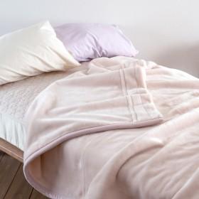 ロマンス小杉 マイヤー 2枚合わせ毛布(毛羽部分アクリル100%)無地 シングル 日本製 48141 ピンク[10] シングル