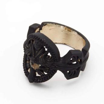 「ExFun」 ファイナルファンタジーXV クティス·ルシス·チェラム 指輪 コスプレ小物 萌えグッズ 飾り (指輪(黒))