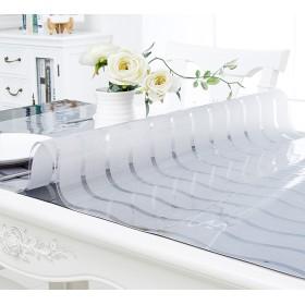 1.5ミリメートル透明プラスチック波形のテーブルクロスプロテクターマット、テーブルクロスビニール(90cmx90cm) ( サイズ さいず : 9090センチメートル )