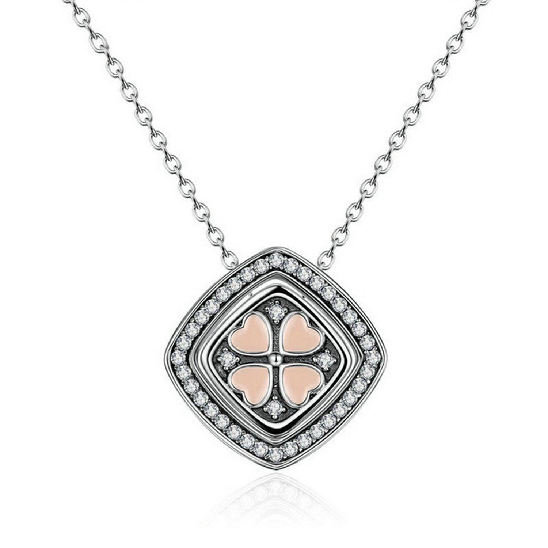 MMC 0.65ct Lemon Quartz Box Silver Pendants Necklaces