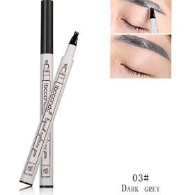 RaiFu アイブロウ ユニークな3つ フォークチップ ヘッドアイブロウ 鉛筆 防水 自然 長期 耐久性 眉ペン 3#