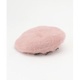(LODISPOTTO/ロディスポット)ふわふわりぼんベレー帽/レディース ピンク