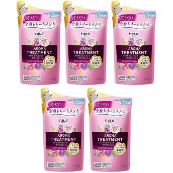 【5個セット】【ボディソープ】ビオレu アロマ トリートメント ボディウォッシュエレガントフローラルの香り つめかえ用 340ml×5