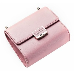 BOBIDYEE チェーンストラップファッションパッケージと女性の小さなショルダーバッグクロスボディバッグイブニングハンドバッグクラッチ (色 : ピンク)