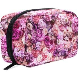 花 化粧ポーチ メイクポーチ 機能的 大容量 化粧品収納 小物入れ 普段使い 出張 旅行 メイク ブラシ バッグ 化粧バッグ