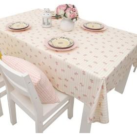 IYHUO テーブルクロス ティーテーブ クロス 食卓カバー コットン 長方形 ファッション 簡約 フラワー柄