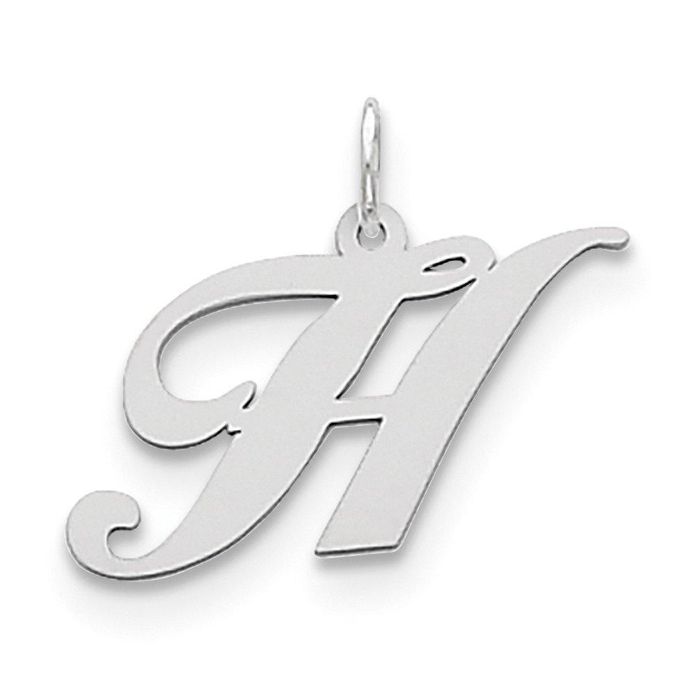 Mia Diamonds 925 Sterling Silver Solid initial G Pendant