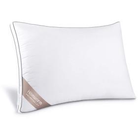 Homwarm 枕 安眠 人気 肩こり 高反発枕 ホテル仕様 高さ調節可能 丸洗い可能 (ホワイト, 634320cm)