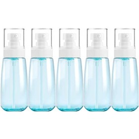 Yan 5 PCS旅行用プラスチックボトルリークプルーフポータブルトラベルアクセサリー小型ボトル用容器、100ml (色 : Blue)