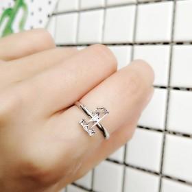 Saitrewed HIP-HOP 韓流グッズ リング 指輪 ステンレス鋼