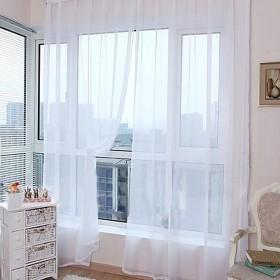 YOKINO カーテン ウィンドウスクリーニング  リビングルーム ファッション 寝室装飾 薄手 カーテン 装飾 窓 部屋 オシャレ ピンク ライトピンク 遮熱窓用 レースカーテン(100cm幅×270cm丈) (A)