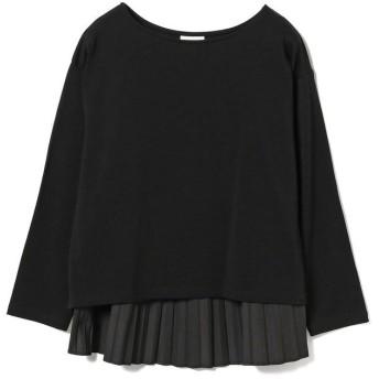 ビームス ウィメン Ray BEAMS / バック プリーツ ボートネック Tシャツ レディース BLACK ONESIZE 【BEAMS WOMEN】