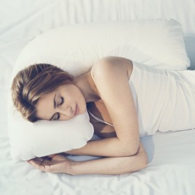 ノルディックスリープ(NORDIC SLEEP) サイドスリーパー 枕カバー 76cm×66cm×35cm [ホワイト (Snow スノー)] 綿サテン100% 洗濯可 ジャガード織り (横向き寝用枕 専用 枕カバー)