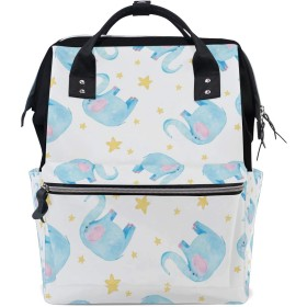 ママバッグ マザーズバッグ リュックサック ハンドバッグ 旅行用 可愛い 小象柄 星空 ファション