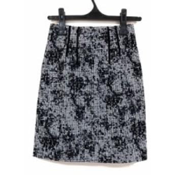 ジャスグリッティー JUSGLITTY スカート サイズ0 XS レディース 黒×白 千鳥格子【中古】20190907