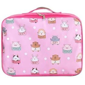 Chaopeng 旅行収納袋、かわいい携帯用ジッパーの漫画のトロリー袋、旅行商品の分類袋、旅行袋旅行袋 (PATTERN : Zoo)