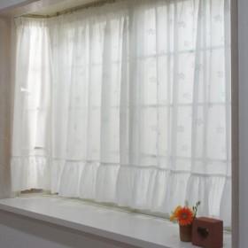 出窓用カーテン スタイルレース チェルシー ストレート型 サイズ:幅300×丈130cm[最長部] Z3K