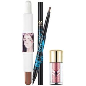 SM SunniMix 化粧品セット 高品質 アイライナーペン アイシャドウペン コンタースティック 3個セット 全4種類 - #1