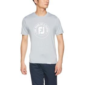[フットジョイ] ポロシャツ FJ-S19-S24 ロゴ Tシャツ メンズ グレー 日本 M (日本サイズM相当)