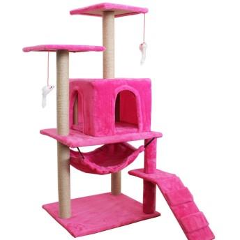 マルチレベルキャットツリーキャットタワーコンド、サイザルスクラッチポスト、豪華なとまり木、コンドミニアム、アクティビティセンターキャットタワー家具プレイハウス,E