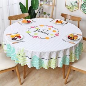 テーブルクロス 円形 直径137cm ビニール 撥水 テーブルカバー 北欧 おしゃれ PVC かわいい 食卓カバー 汚れ防止 耐熱 雰囲気 新築お祝い 贈り物