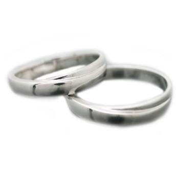 [ココカル]cococaru ペアリング K18 ホワイトゴールド リング マリッジリング 2本セット 結婚指輪 日本製