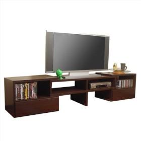 TVを替えてもそのまま使える 伸縮テレビ台 最大47型 [日本製 完成品] (ダークブラウン)