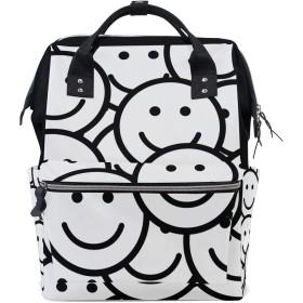 ANNSIN マザーズバッグ ママバッグ リュック バックパック ハンドバッグ 3WAY 多機能 防水 大容量 軽量 シンプル おしゃれ ベビー用品収納 出産準備 旅行 お出産祝い 笑顔 可愛い