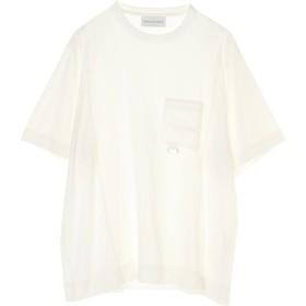 DIET BUTCHER SLIM SKIN Over size pocket T-shirt Tシャツ・カットソー,WHITE