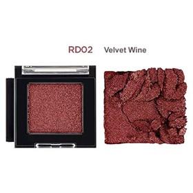 [ザ・フェイスショップ] THE FACE SHOP [モノ キューブ アイシャドウ (シマ一) 15カラー] (Mono Cube Eyeshadow (Shimmer) 2.0g - 15 shades) (#RD02 - Velvet Wine)