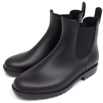 通年取扱い商品 ブーツのような雨靴 サイドゴアレインシューズブラック S