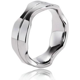 Ianlex ステンレススチール 個性 リング 指輪 バンド シルバーメンズ アクセサリー サイズ14 リング 指輪 バンド