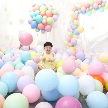 マカロンカラー 風船 Youmai パステルカラー バルーン 100個 8種混合色 10寸 2.2g 極厚風船 誕生会 結婚式 パーティー インスタ映え クリスマス 部屋飾り 可愛いカラー風船