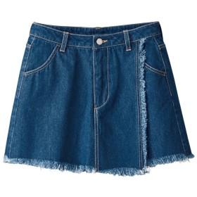 GeeRA ラップスカート風デニムショートパンツ ブルー ウエスト61cm レディース 5,000円(税抜)以上購入で送料無料 ショートパンツ 夏 レディースファッション アパレル 通販 大きいサイズ コーデ 安い おしゃれ お洒落 20代 30代 40代 50代 女性 パンツ ズボン