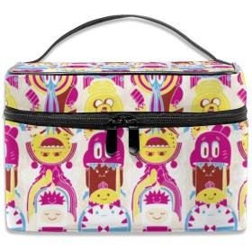 漫画 化粧ポーチ メイクポーチ コスメバッグ 収納 雑貨大容量 小物入れ 旅行用
