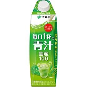 伊藤園 豆乳でまろやか 毎日1杯の青汁 1L紙パック×6本入