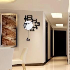 A-KUYA 欧式 簡約 ファッション シンプル 数字時計 デザイン 振り子時計 インテリア ホーム 喫茶店 リビング おしゃれ 掛け時計 デジタル 静か 電池式 静音 二サイズ