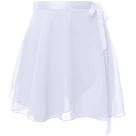 Daydance 大人 バレエスカート レースシフォンスカート レッスン ダンス着 発表着 バレエ用品 ホワイト XL身長 160-175cm