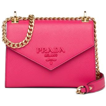 Prada モノクローム サフィアーノ ショルダーバッグ - ピンク