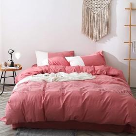 CXSD 布団カバー、寝具カバーセット、布団カバーセット、寝具4枚セット、寝具、4点セット、寝具4枚セット、洗ったコットン軽量ソフト、ベッドシーツスーツ、複数のスタイル (Color : D, Size : 1.5m bed)