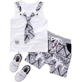 幼児服tシャツ 2019夏子供ボーイトラックスーツファッション紳士ネクタイショーツ 2 ピース/セット服セット