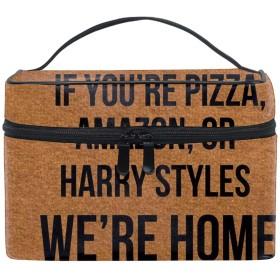 化粧ポーチ メイク収納 中身が見やすいIf You're Pizza 持ち運び用 小物入れ