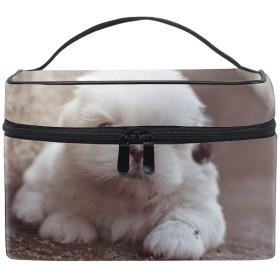 チャウチャウ子犬犬収納バッグ コスメポーチ 化粧ポーチ 洗面用具入れ トラベルポーチ 旅行 出張 収納 コスメバッグ コンパクト 超軽量