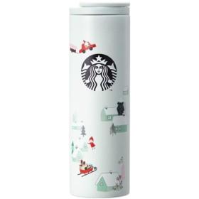 海外限定 スタバ トロイスノーステンレスタンブラー Starbucks SS Troy Snow Pixieland Tumbler 473ml [並行輸入品] (Troy snow)